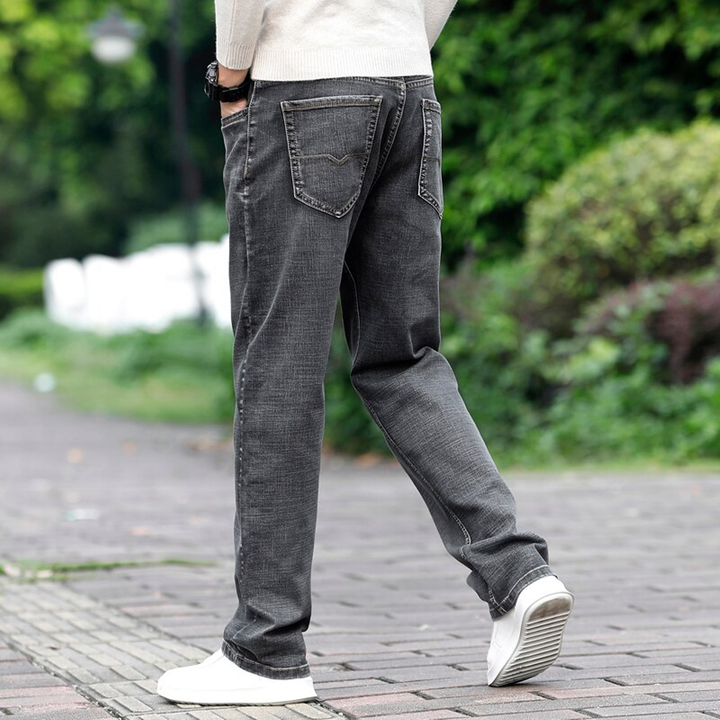 Men's Casual Stretchy Straight Jeans | Plus Size