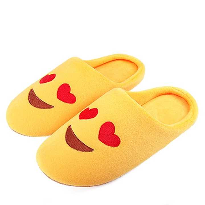 Men's/Women's Winter Warm Soft Home Slippers With Emoji