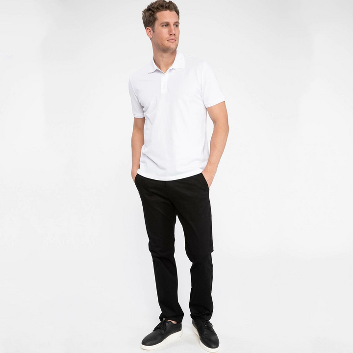 Men's Summer Casual Short Sleeve Solid Polo