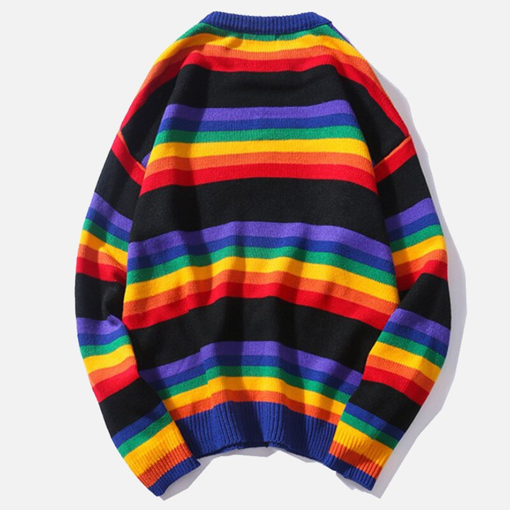 Men's/Women's Casual Woolen Striped Loose Sweater