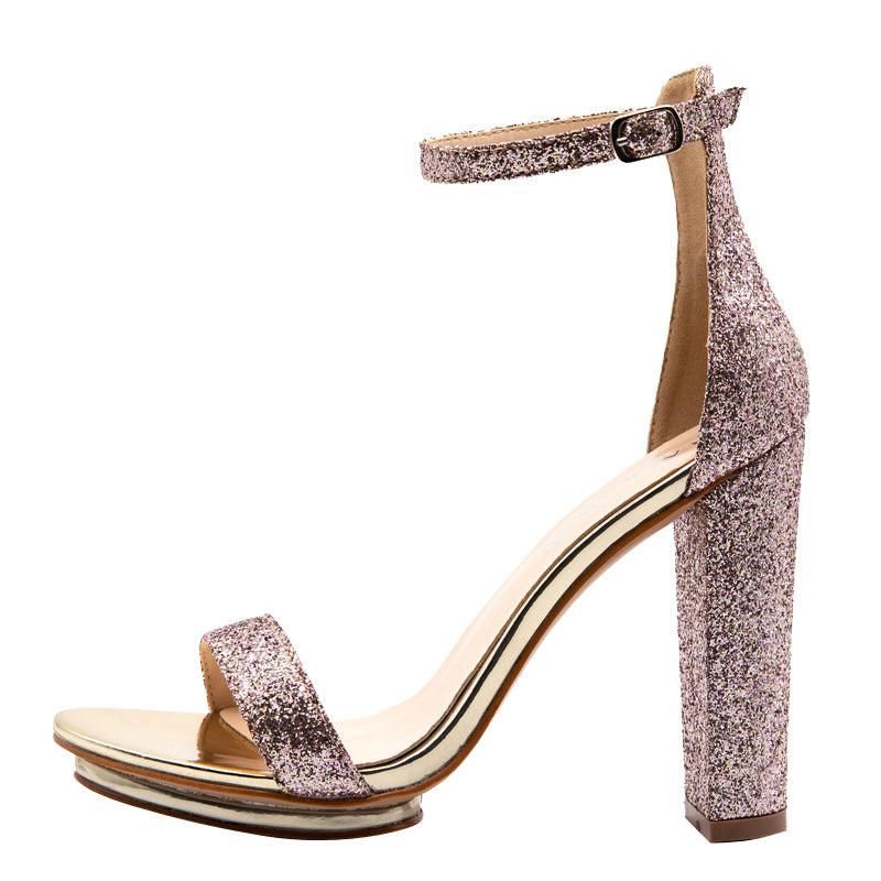 Women's Summer Platform High-Heeled Party Sequins Sandals
