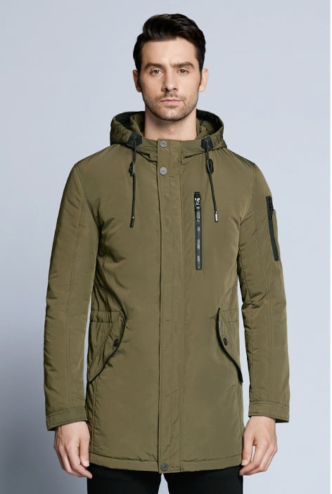 Men's Autumn Casual Hooded Cotton Short Jacket