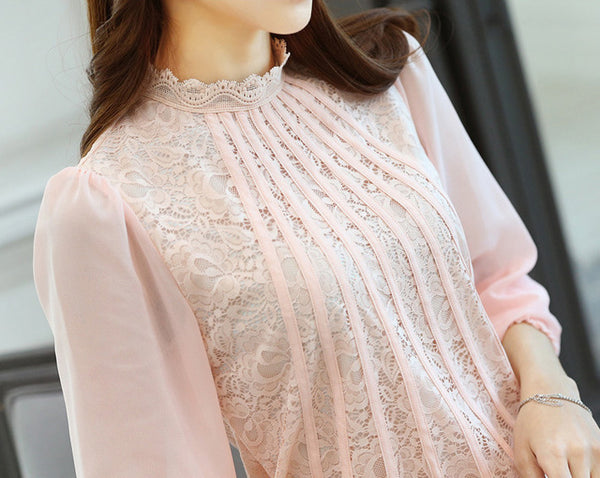 Blouse – Fashionable Women's Blouse With Lace | Zorket