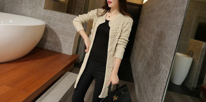 Women's Long Knitted Autumn / Winter Cardigan