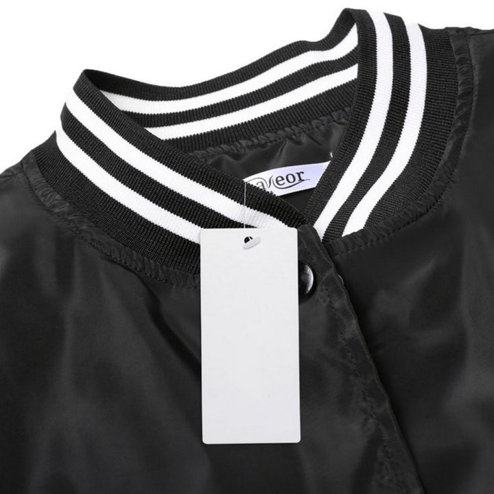 Women's Spring Casual Stand-Collar Bomber | Ladies Windbreaker