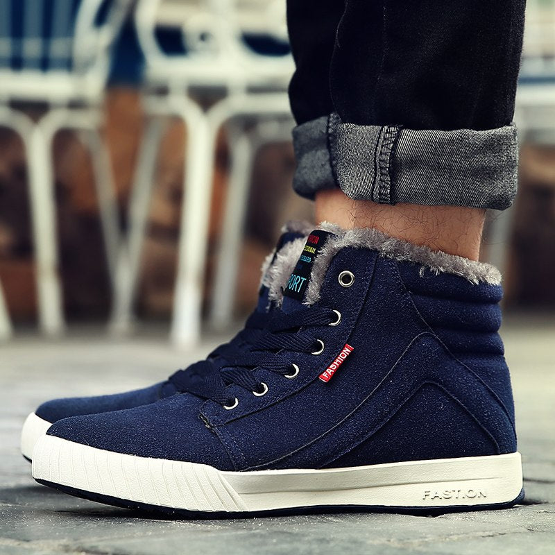 Men's Winter Casual Canvas Warm Shoes