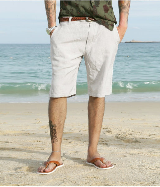 Board Shorts – Men's Summer Linen Knee Length Shorts | Zorket