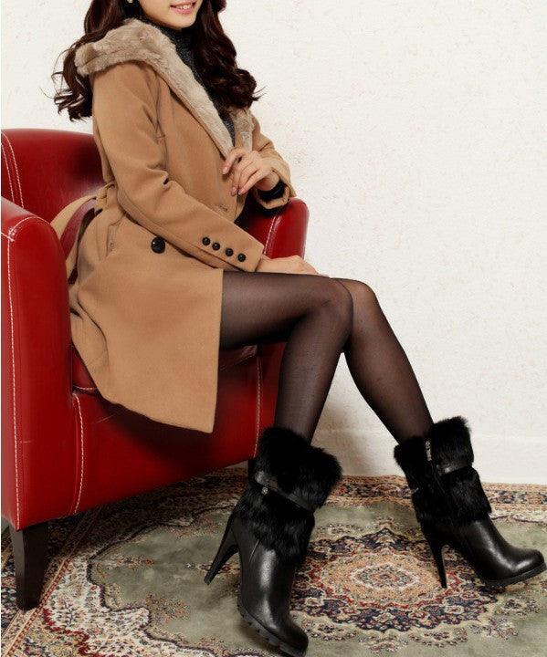 Women's British Style Warm Winter Coat - Zorket