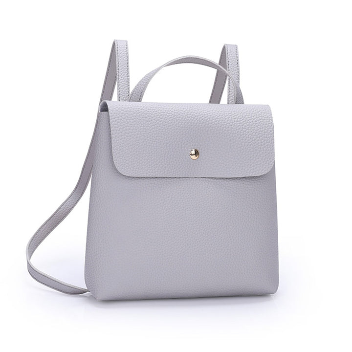 Women's Spring/Summer PU Leather Shoulder Mini Backpack