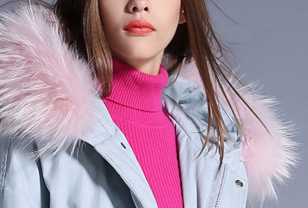Solid Color Warm Winter Down Jacket For Women - Zorket