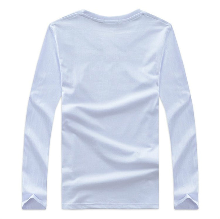 Men's Spring/Autumn Casual O-Neck Long-Sleeved T-Shirt