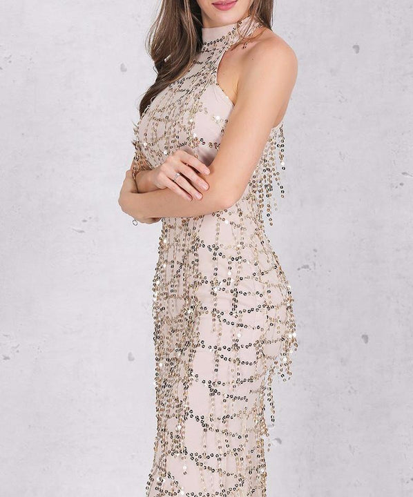 Sequin Evening Maxi Dress