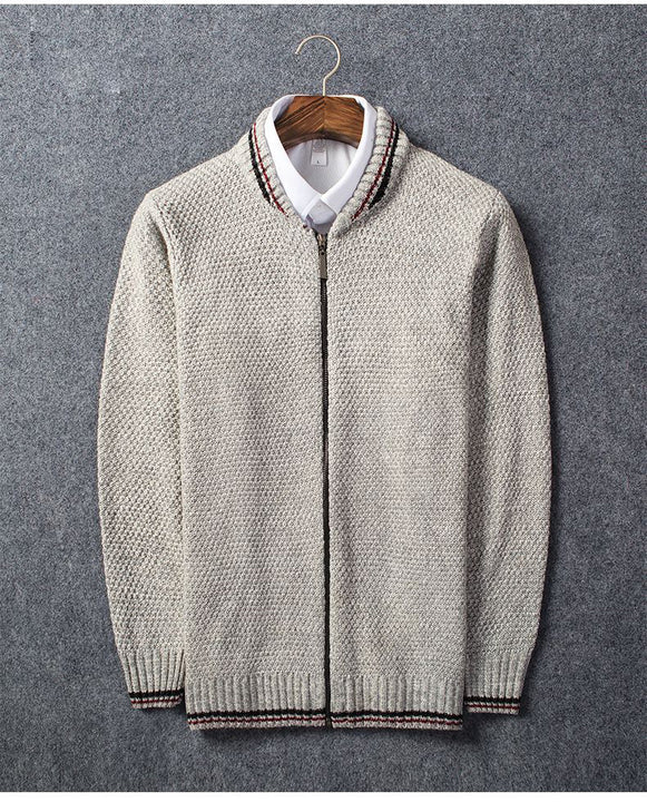 Men's Spring/Autumn Casual Woolen Knitted Cardigan