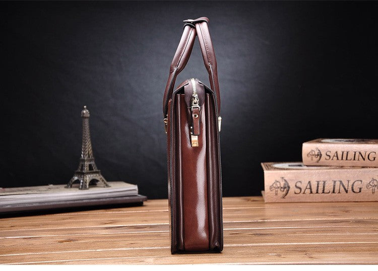 Men's Vintage Formal Genuine Leather Briefcase - Zorket