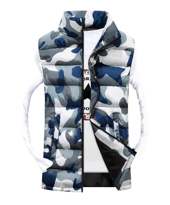 Men's Autumn/Winter Warm Camouflage Cotton-Padded Vest