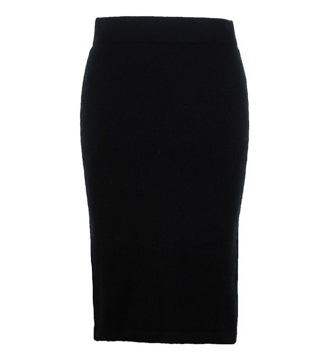 Women's Autumn/Winter Woolen Knee-Length Skirt