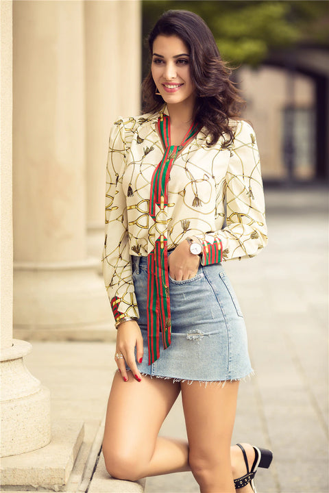 Women's Spring/Autumn Casual Chiffon Blouse