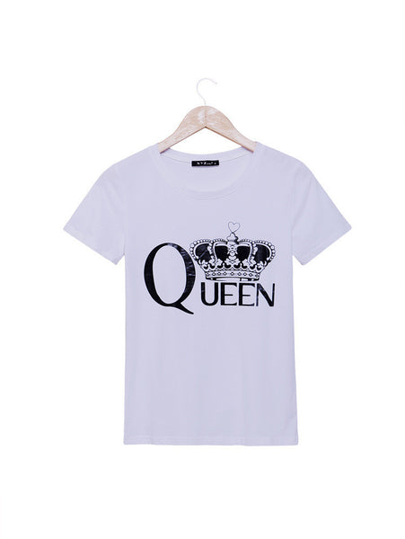 T-Shirt – Women's T-Shirt With Printed Crown | Zorket