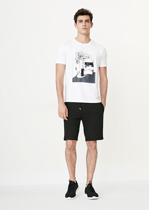 Men's Summer Casual Short-Sleeved T-Shirt With Abstract Portrait