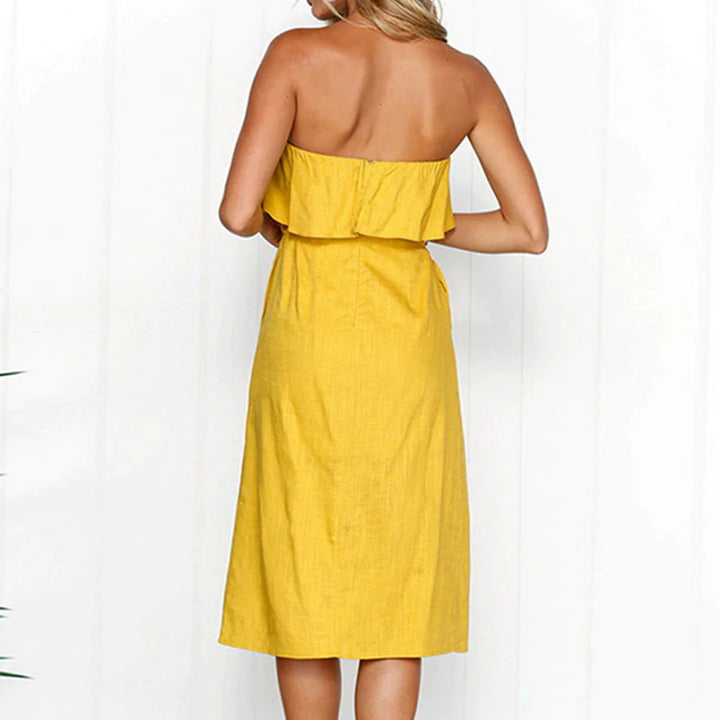 Women's Summer Sundress With Open Shoulders
