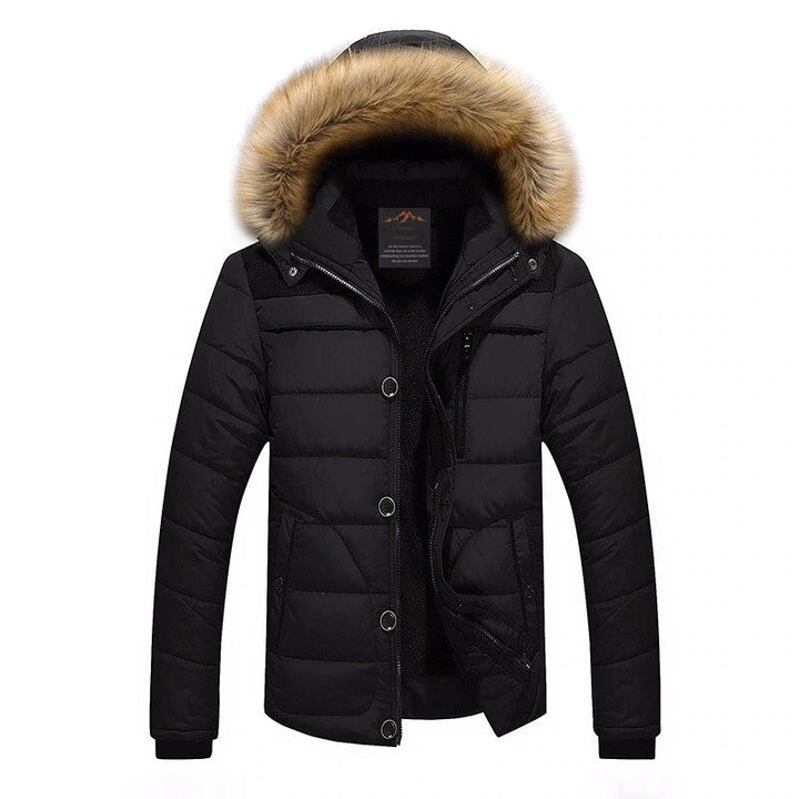 Men's Winter Warm Down-Padded Parka With Fur On Hood