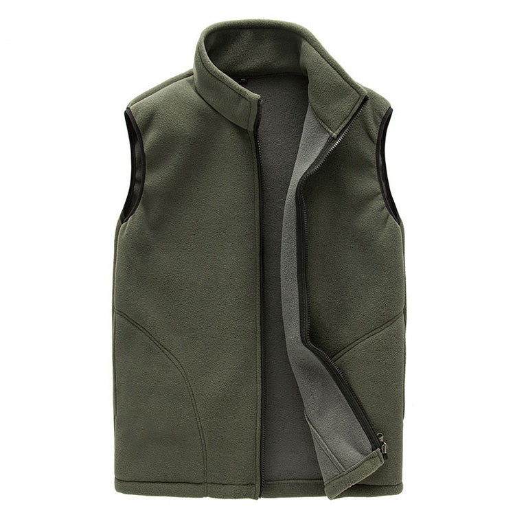 Men's Winter Warm Soft Fleece Windproof Vest