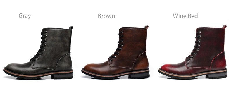 Men's Autumn/Winter Leather Military Boots