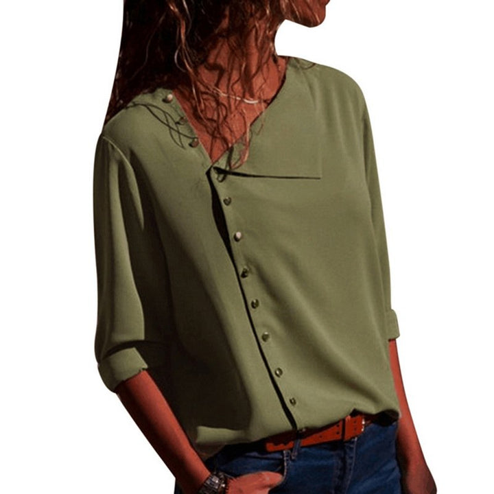 Women's Summer Chiffon Blouse | Office Casual Shirt