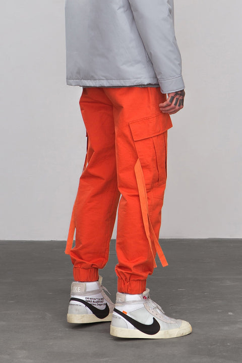 Men's Spring/Autumn Cotton Cargo Pants With Side Pockets