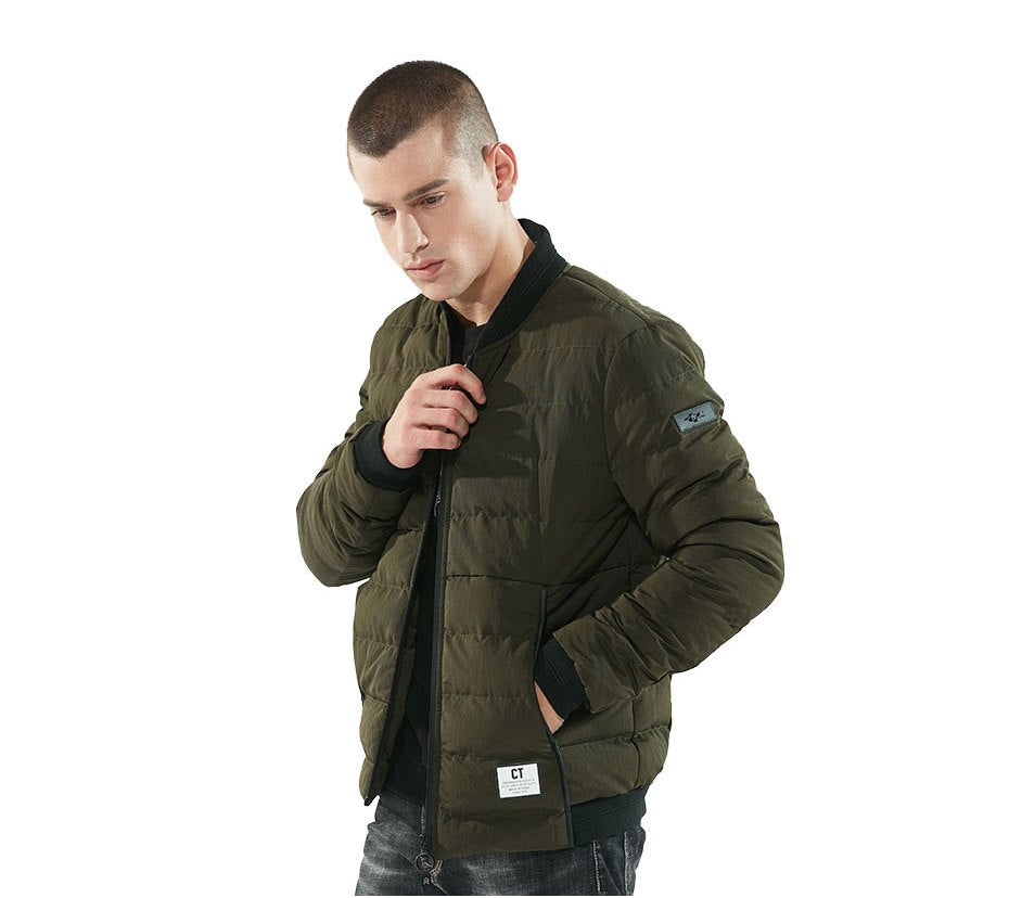 Men's Winter Thick Military Bomber With Letters Printed