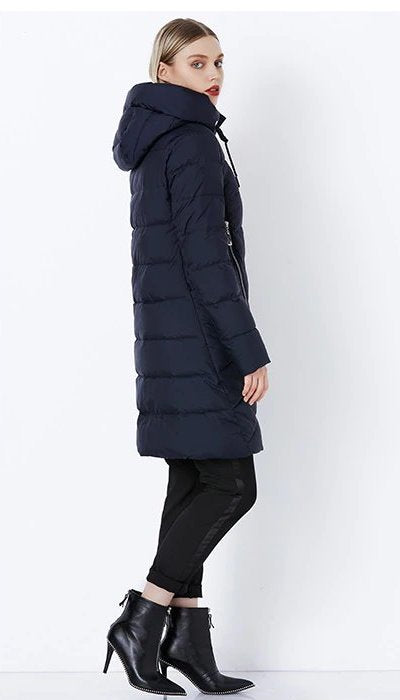 Women's Winter Thick Windproof Hooded Warm Down Coat