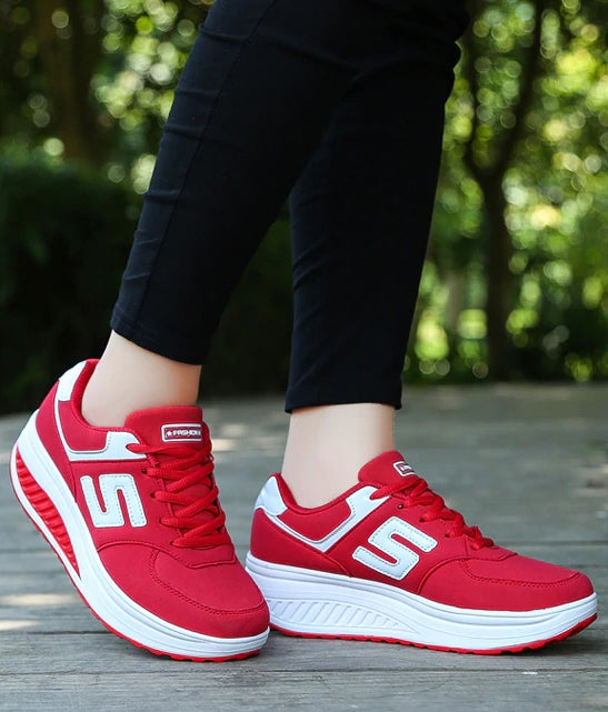 Women's Breathable Mesh Lace Up Casual Sneakers