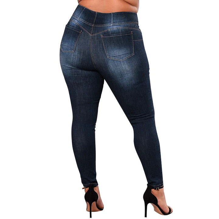Women's Spring/Autumn Casual Stretch High Waist Skinny Jeans