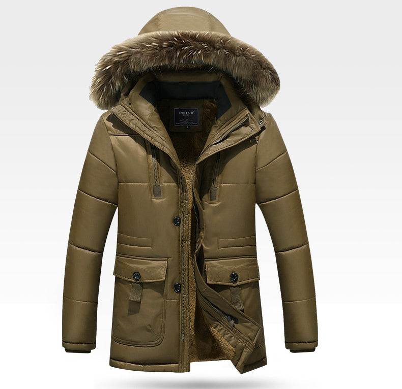 Men's Winter Thick Warm Casual Hooded Down Coat