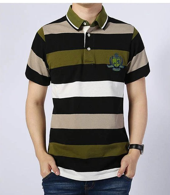 Men's Summer Cotton Polo With Letter Embroidery