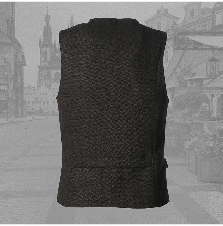 Men's Autumnn Three Button Woolen Vest