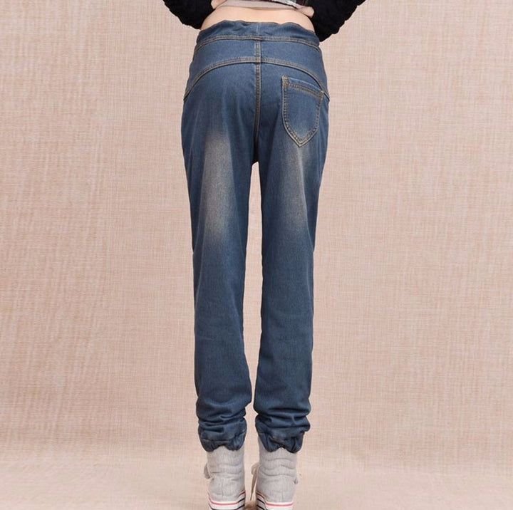 Warm Winter Women's Harem Jeans - Zorket