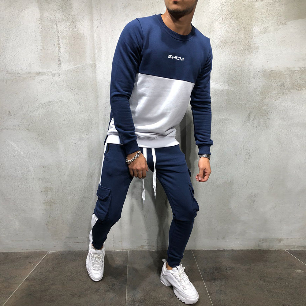 Men's Autumn Multi-Pocket Cotton Tracksuit
