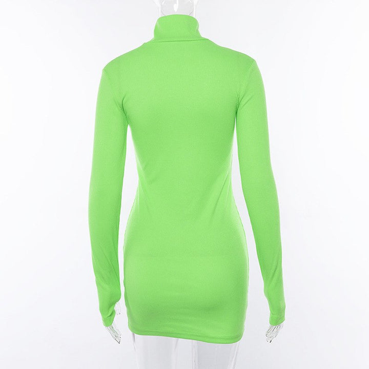 Women's Spring/Autumn Casual Long-Sleeved Sheath Slim Dress