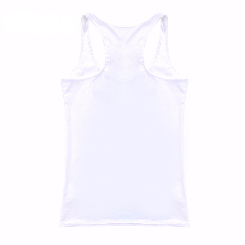 Stylish Light Women's Tank Top With A Picture - Zorket