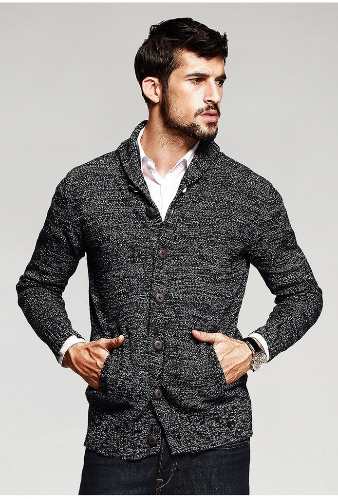 Men's Autumn Cotton Knitted Cardigan