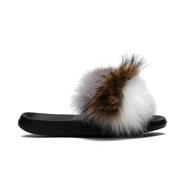 Women's Summer Soft Furry Flat Slippers