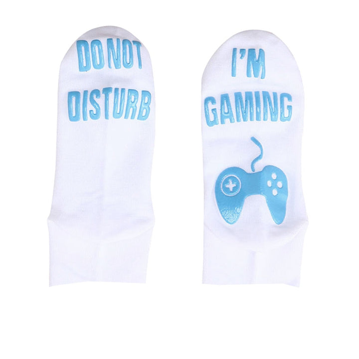 "Men's Spring/Autumn Soft Ankle Short Socks With ""Do Not Disturb"" Printing"