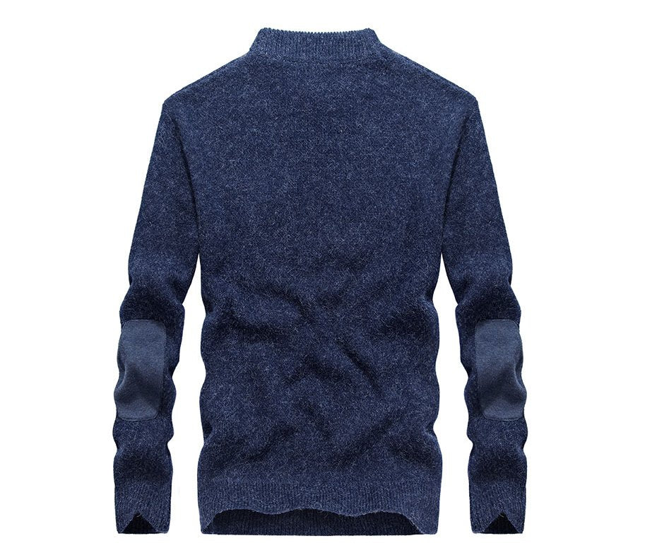 Men's Autumn/Winter Casual Cotton O-Neck Knitted Pullover