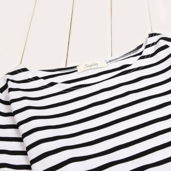T-Shirt – Women's Striped  O-Neck & Long Sleeves T-Shirt | Zorket