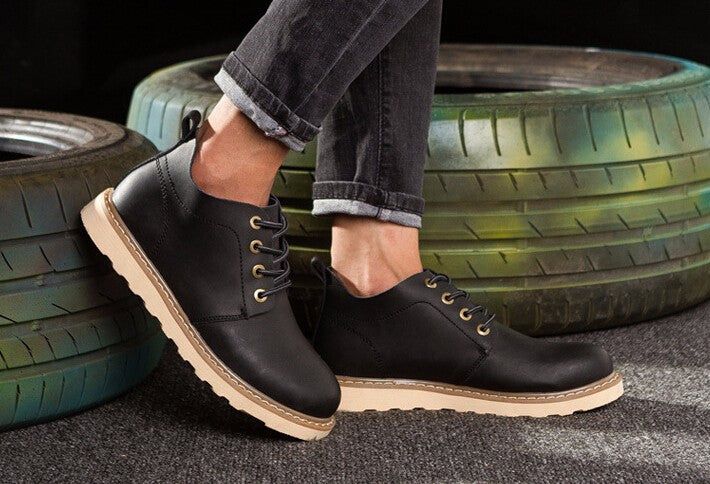 Boots – Casual Lace-Up Platform Male Boots | Zorket