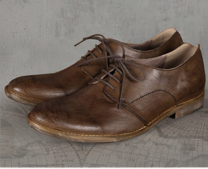 Men's Autumn/Winter Retro Leather British Style Oxford Shoes