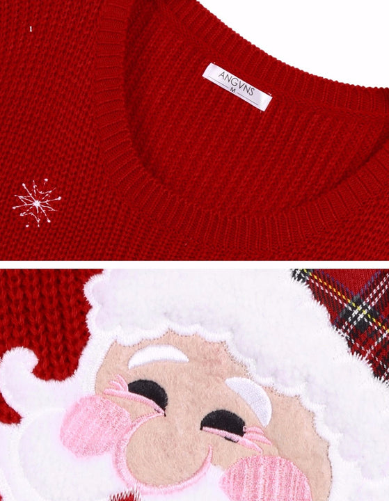 Women's Christmas Knitted O-Neck Pullover - Zorket