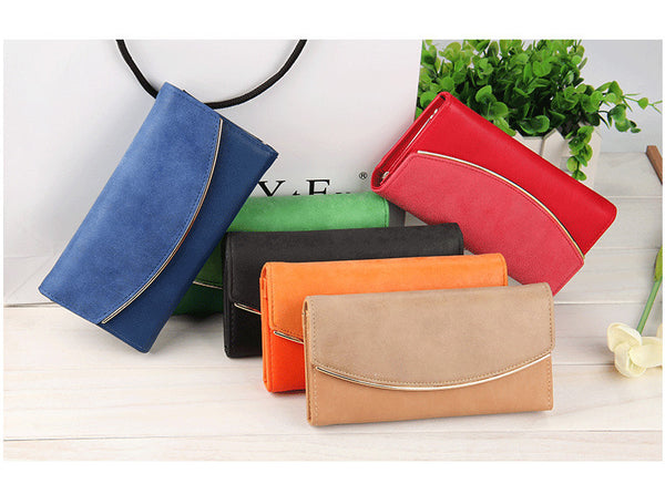 Wallet – Women's Matte PU Leather Wallet Money Package Card Purse | Zorket