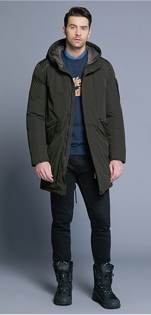 Men's Winter Warm Hooded Down Coat